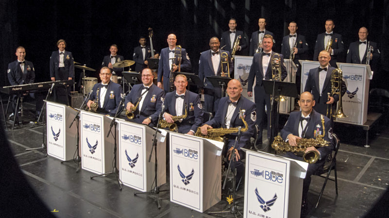 Photo Provided The United States Air Force Heritage Band's Rhythm in Blue jazz ensemble will perform at 7 p.m. June 10 at the Smoot Theatre.  The free show is  sponsored by the Smoot Theater and  The Parkersburg News and Sentinel. Patrons will have to obtain the complimentary tickets from the Smoot box office.