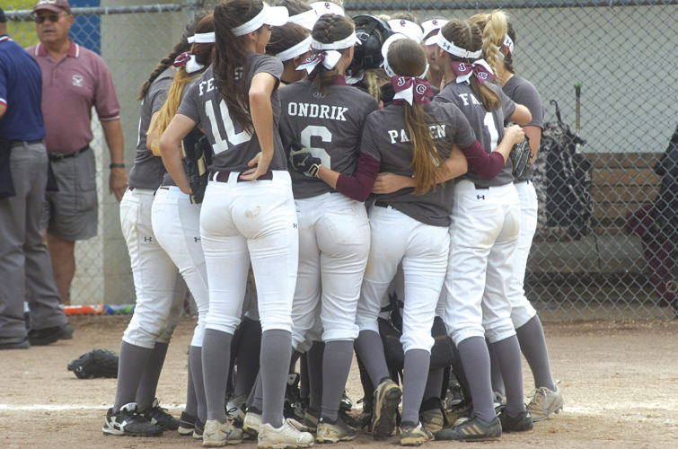 Wheeling Central claimed its second straight state softball title and 11th overall Thursday at Jackson Park in Vienna. Photo by Joe Albright.