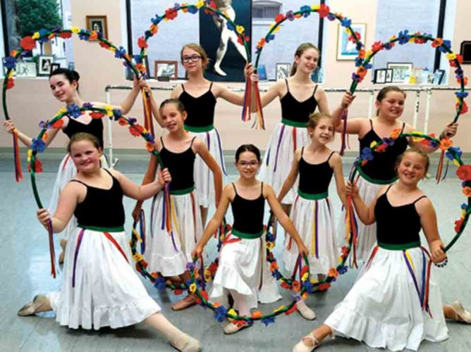 Photo courtesy of The Bartees Schrader Youth Ballet dancers, front row: Emily Bond, Isidora Diaz, Ella Horton; second row, Naomi Potts, Josie Augenstein; back row, Lydia Ellis, Cadence Kline, Riley Karcher and Adelyn File.