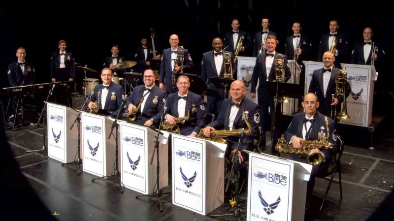 Photo Provided The United States Air Force Heritage Band's Rhythm in Blue jazz ensemble will perform at 7 p.m. Saturday at the Smoot Theatre. The free show is sponsored by the Smoot Theatre and The Parkersburg News and Sentinel.