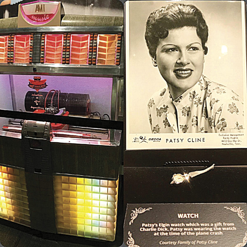 Photo by Tom Moore A jukebox featuring Patsy Cline can be viewed at the new Patsy Cline Museum in Nashville, Tenn.