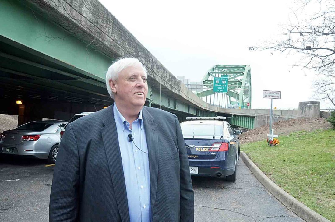 West Virginia Gov. Jim Justice is shown during a March visit to Wheeling. Justice announced Wednesday he still does not like the $4.225 billion budget plan passed by the state Legislature. Justice said he won't sign it, allowing the bill to become law.