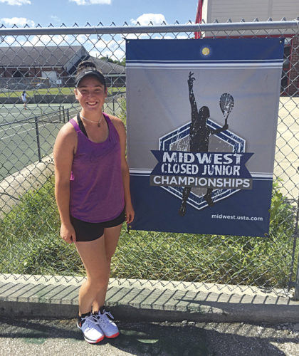 Mid-Ohio Valley local Marie Discini competed in the 2017 Midwest Closed Championships G-16 this past weekend in Indianapolis, Ind. Discini made it to the consolation second round of the event. She picked up a consolation first-round win over Columbus, Ohio's Paige Kompa 6-2, 5-7, 6-0.