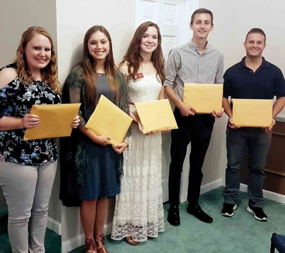 Photo Provided These third-year students from the Parkersburg Area Community Foundation's Civic Leaders Fellowship program attended Friday's recognition program in Parkersburg. These students completed all three years of the fellowship program. From left are Katelyn Hoover, Alison Roberts, Tiffany Harvey, Jordan Stemple and Forrest Hogue.