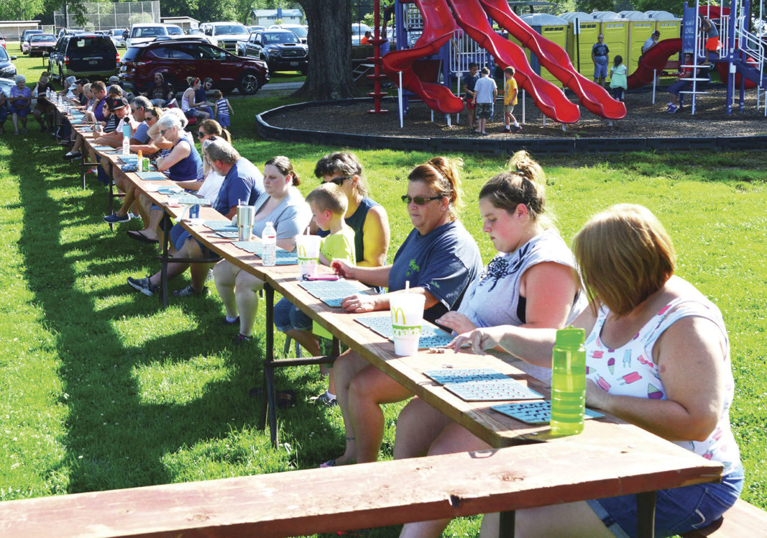 Photo by Doug Loyer Bingo is always very popular at the Lowell-Adams VFD Ice Cream Social.