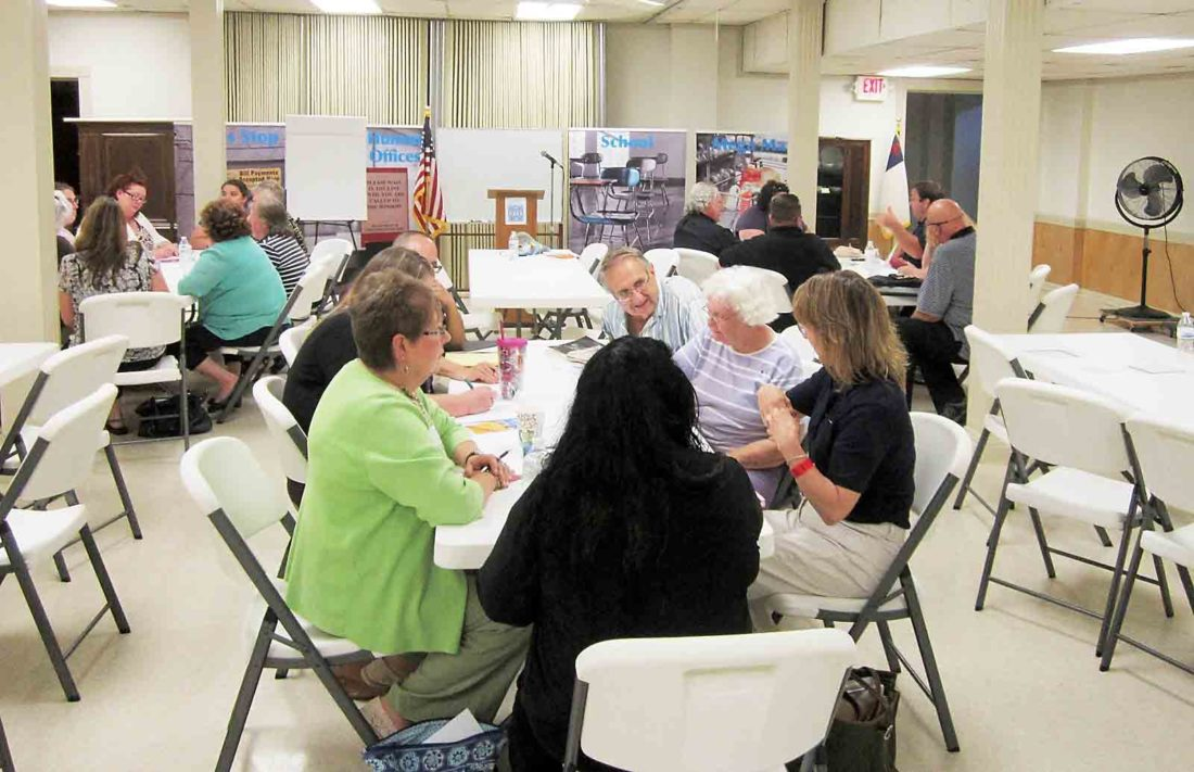 "About 50 people attended a ""Barrier Busters"" forum to learn about issues involving poverty and ways to address those issues in a program organized by Circles Campaign of the Mid-Ohio Valley and Our Children Our Future. (Photo by Wayne Towner)"