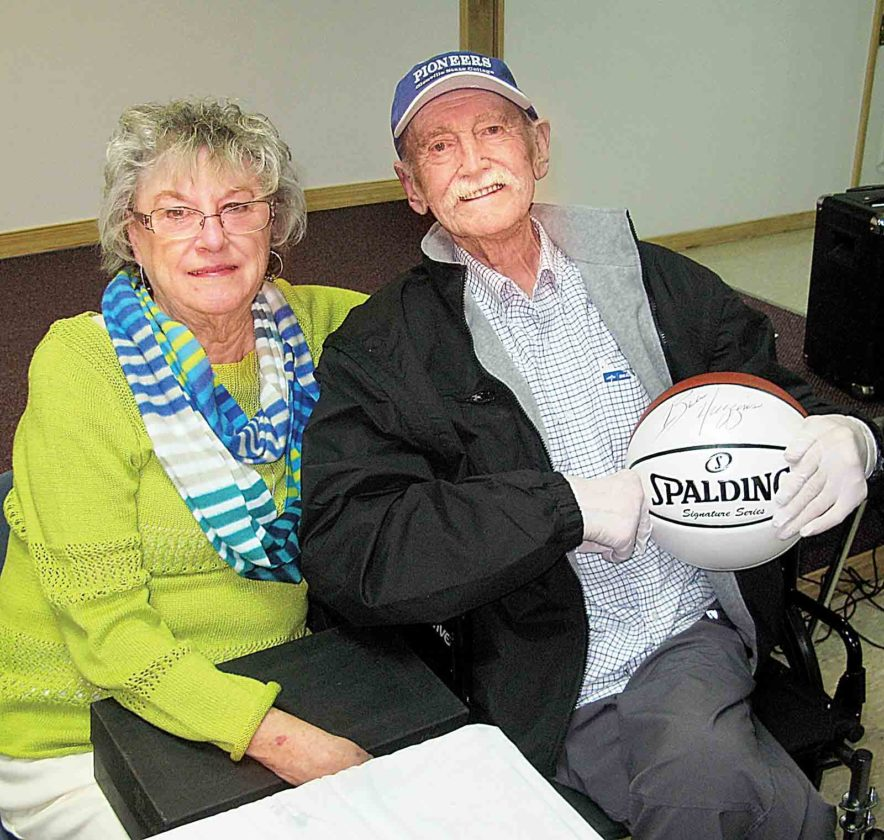 File Photo LEFT: Clyde Brewer, right, and his wife, Lou Ann, in January at the Clyde Brewer Roast at the Vienna Community Building. Brewer, 78, who coached the Parkersburg High School basketball team, died Wednesday morning.