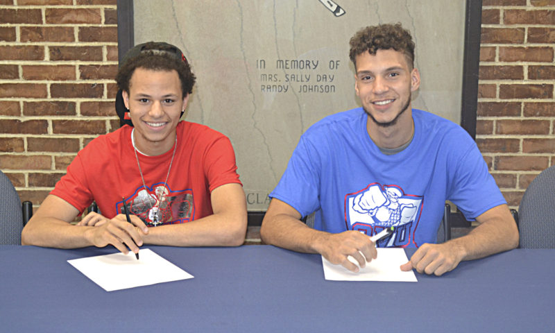 OVU prospects Dre Norman (left) and Marcus Mayle (right)