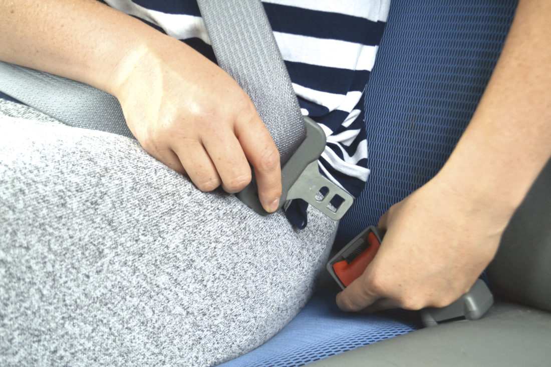 Photo illustration by Peyton Neely A report this month from the Insurance Institute for Highway Safety says four out of five people don't bother to use their seat belt in the back seat.