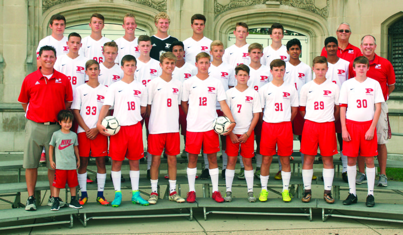 Photo by Joe Albright The Parkersburg High boys soccer team graduated nine seniors from last year's state tournament team. The Big Reds are counting on some new players to step up this season.