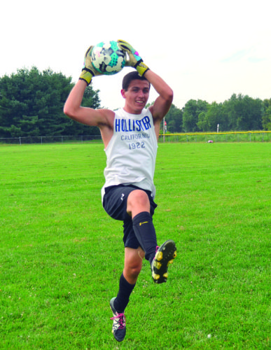 Photo by Ron Johnston Williamstown goalkeeper Joseph James goes through a drill during a practice session Tuesday in Williamstown.