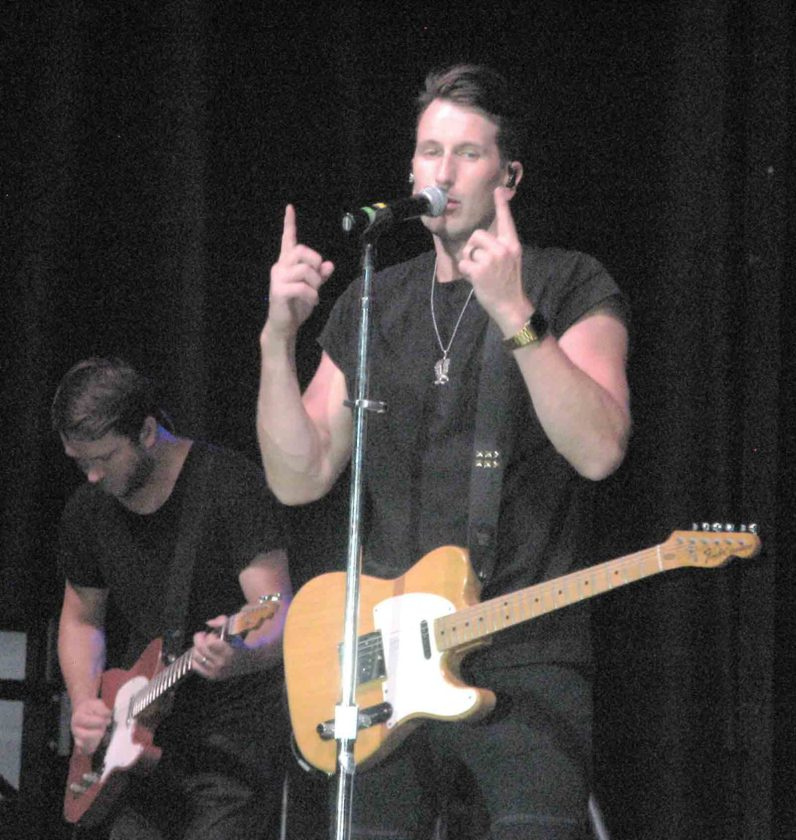 Photo by Jeffrey Saulton Russell Dickerson was the headline performer during the first night of the Parkersburg Homecoming on Friday.