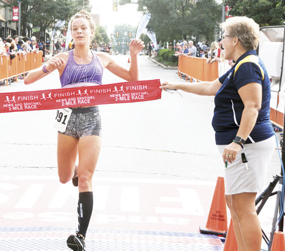 Photo by Jeff Baughan Parkersburg News and Sentinel intern Maddy Sury captured the women's 2-mile race Saturday.