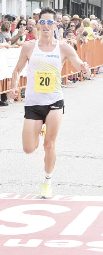 Photo by Jeff Baughan Matt Liano was the first American to cross the finish line during Saturday's race.