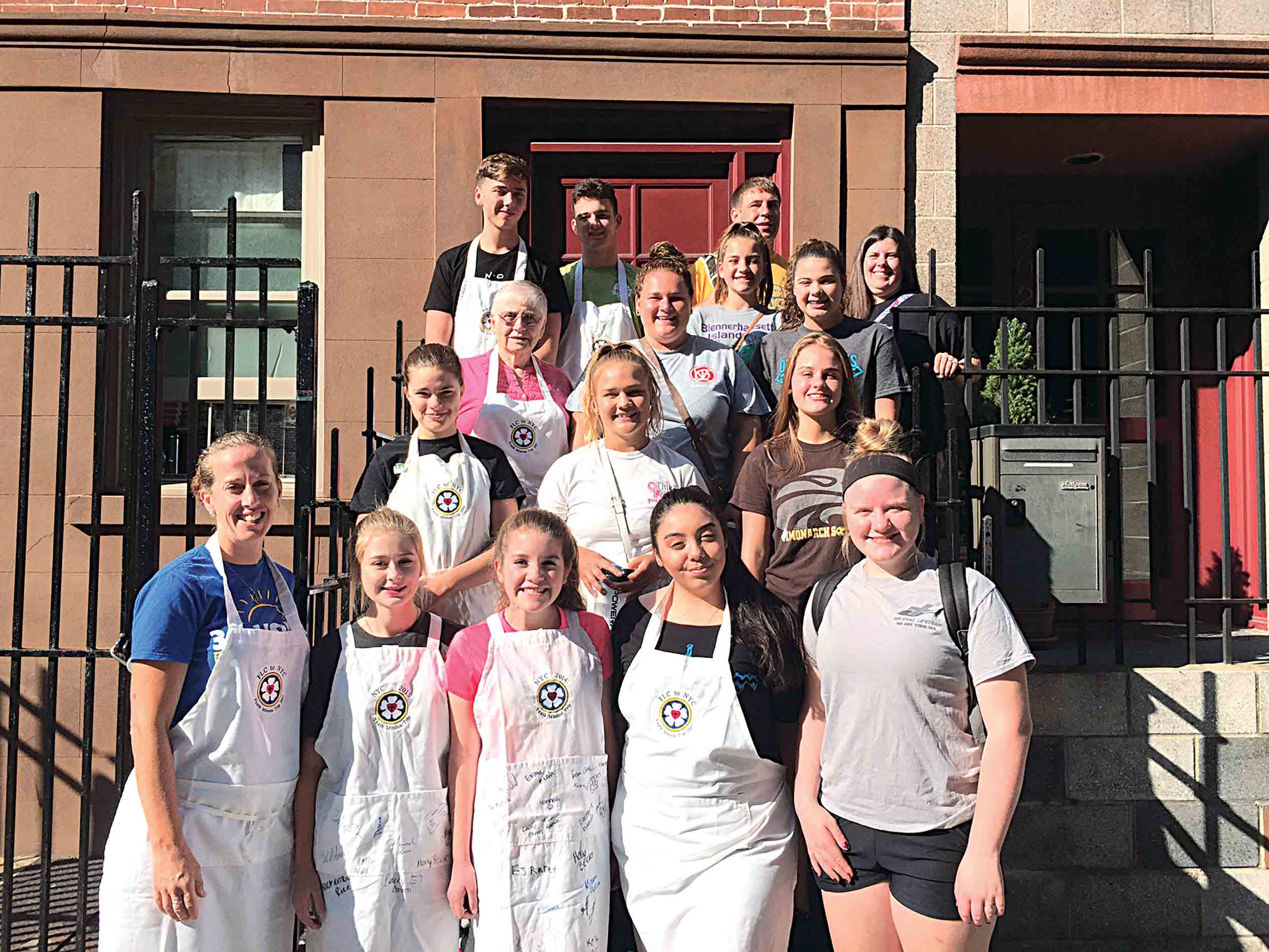 first lutheran youth group pletes new york city mission trip