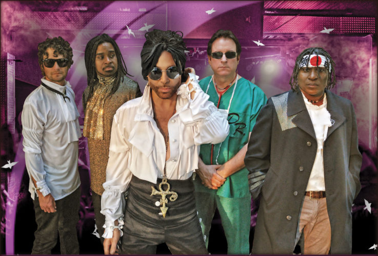 Photo Provided The Purple Xperience — A Tribute to Prince will perform at 8 p.m. Friday at the Point Park Amphitheatre in downtown Parkersburg. The concert will end this year's Point Park Concert Series.