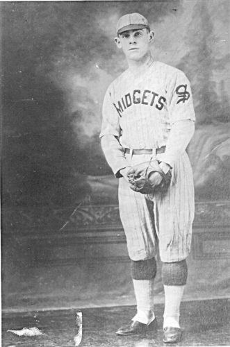 Photo Provided The Midgets baseball team was formed in the spring of 1904.  It was members of the Midgets who were arrested for playing ball on Sunday. Shown in the photo above is Archie Cook. The Cook family was well represented in the first decade of the 20th century when in addition to Archie, his brothers Lynn, Roland, Lee, Bob and Dan all represented themselves well in league play.