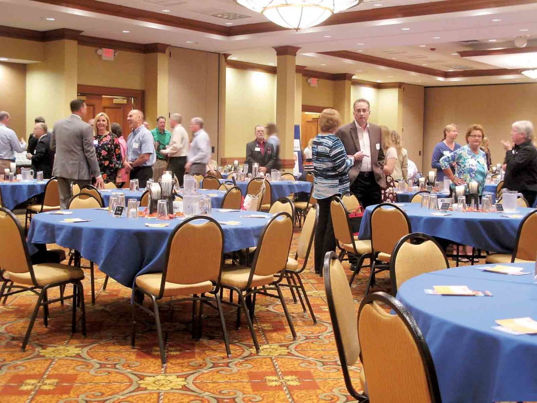About 150 representatives of the United Way Alliance of the Mid-Ohio Valley and its partner agencies Tuesday morning attended the annual Community Leaders Breakfast at the Grand Pointe Conference Center. The goal for 2017-18 is $775,000. (Photo by Jess Mancini)