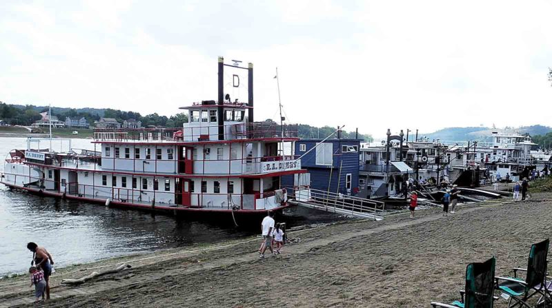 File Photo Sternwheelers of all sizes lined the Ohio River Levee during last year's Ohio River Sternwheel Festival in Marietta.