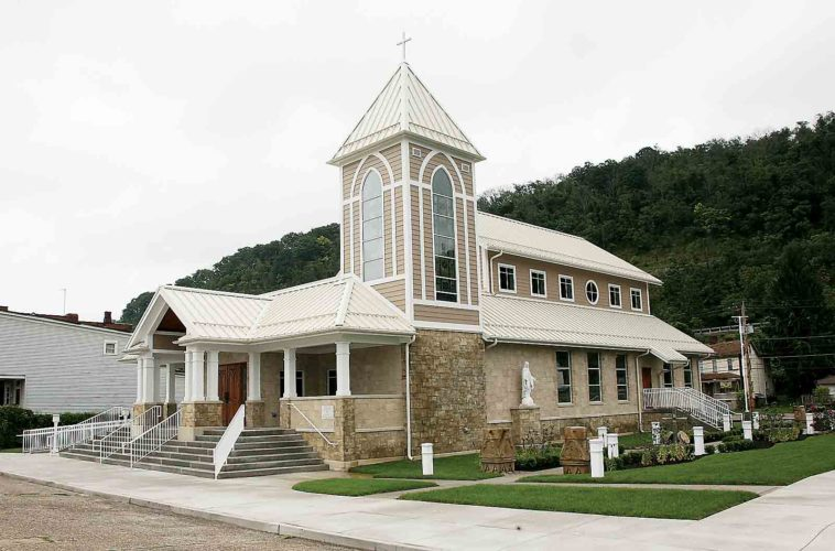 Photo Provided A new St. John Church in Benwood, W.Va., will be dedicated today after the church was destroyed by fire in 2015.
