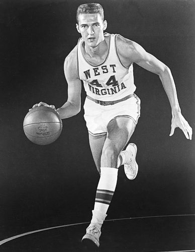 Photo Provided Jerry West when he was a basketball player at West Virginia University.