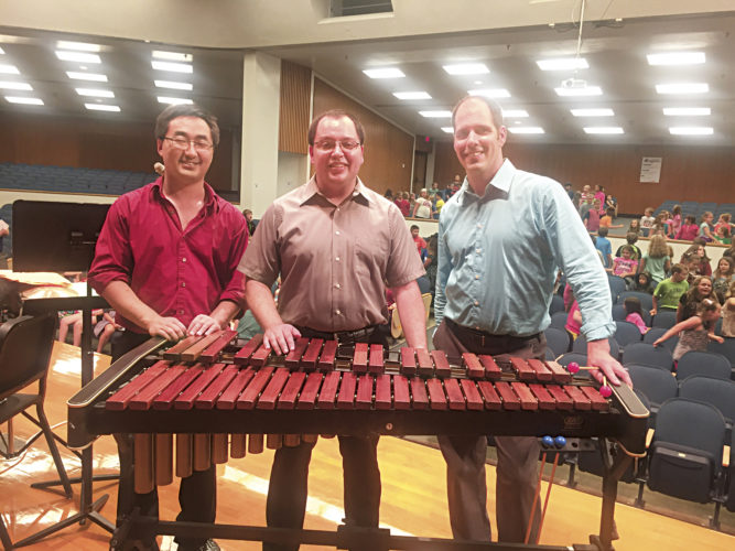 Photo Provided Shookstruck Trio members Robert Kistler, Dan Zawodniak and Matt Larson perform at Blennerhassett
