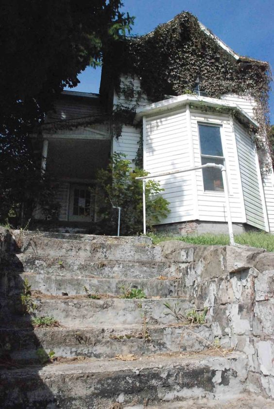 The next house on Parkersburg's demolition list is 807 Swann St., shown here Monday. (Photo by Evan Bevins)