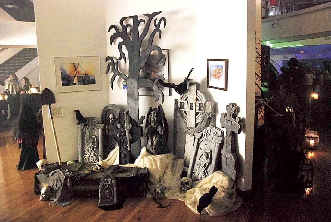 Photo Provided Spooky decor for last year's party, courtesy of sponsor Crown Florals and Rentals.