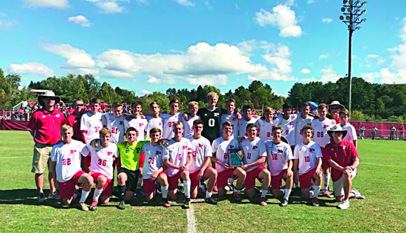 Courtesy photo The Parkersburg High boys soccer team defeated Hurricane, 3-0, Saturday to win the Mountain State Athletic Conference championship.