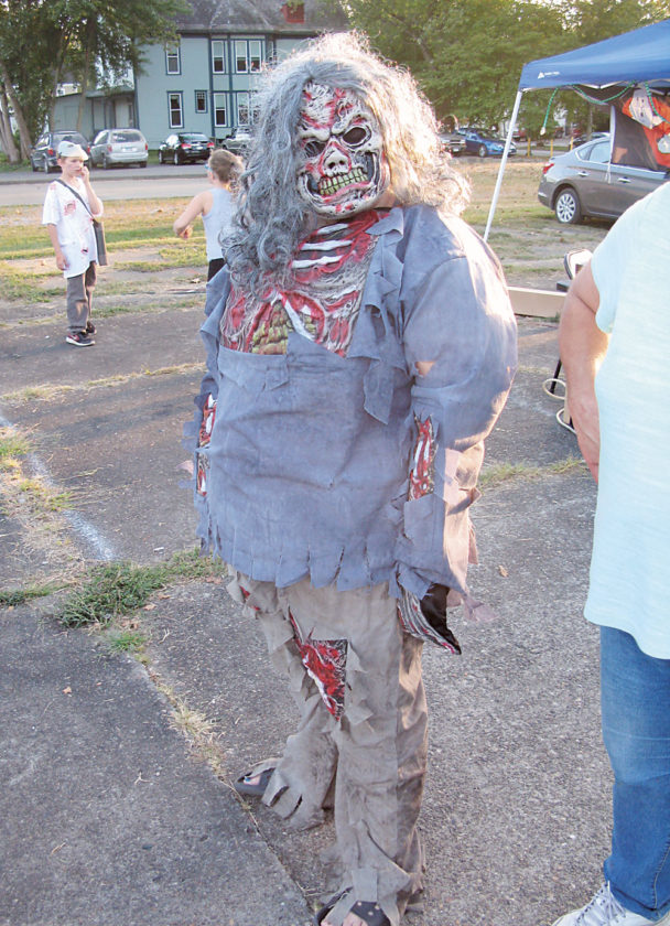 Photo by Jeffrey Saulton Lia Shankland was a grisly zombie at the Zombie Fest on Saturday.
