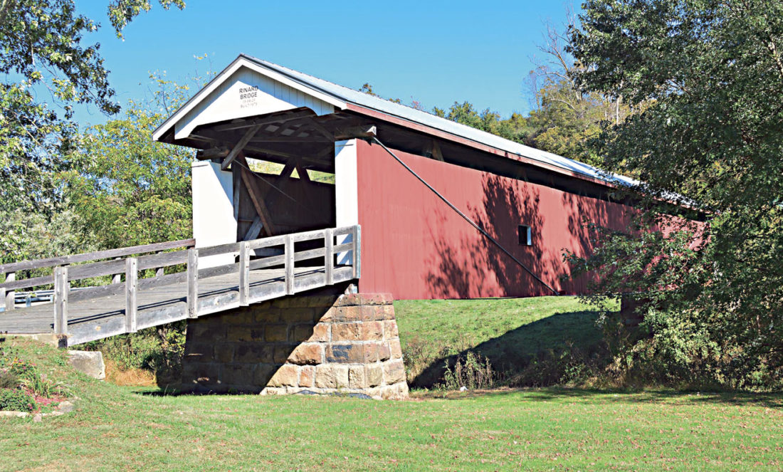 Photo by Doug Loyer The Historic Rinard Bridge served as one of many photo opportunities on this weekend's fall foliage tour.