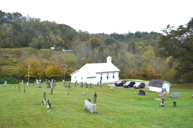 Photo by Michael Kelly The Low Gap Christian Union Church sits  above Ohio 26 in Cline. The church marks its 200th anniversary this year.