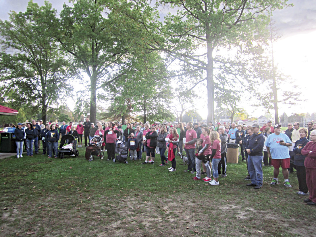 Photo by Wayne Towner About 200 people gathered Saturday morning at City Park for the 2017 Mid-Ohio Valley Heart and Stroke Walk to raise money for the American Heart Association.