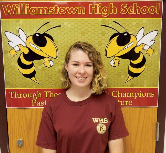 Alexis Jones, a senior at Williamstown High School, is this week's Teen of the Week. Jones plays the violin and other instruments and hopes to pursue a career in forensic accounting. (Photo by Michael Erb)