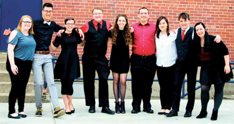 Photo Provided Floodstage, a contemporary a cappella vocal ensemble, will be performing during the Fall Jazz Concert at 7:30 p.m. Tuesday in the Alma McDonough Auditorium at Marietta College.