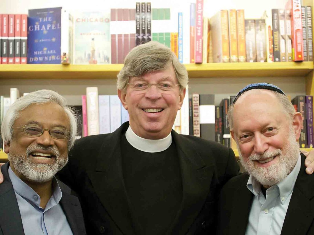 Photo Provided Pictured are the Interfaith Amigos, from left to right, Imam Jamal Rahman, Pastor Don Mackenzie and Rabbi Ted Falcon.