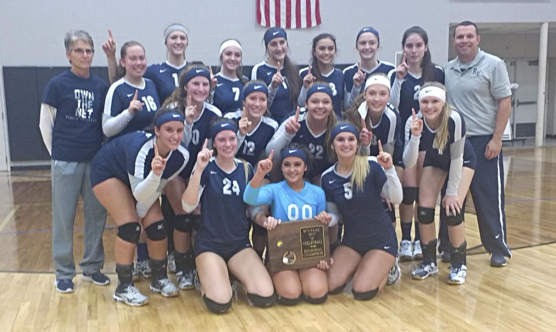 Ritchie County swept Tyler Consolidated 25-16, 25-18 and 25-17 on Saturday afternoon to capture the Class A, Region I championship match in Kidwell. Both the Rebels and Silver Knights advance to Friday's state tournament in Charleston.