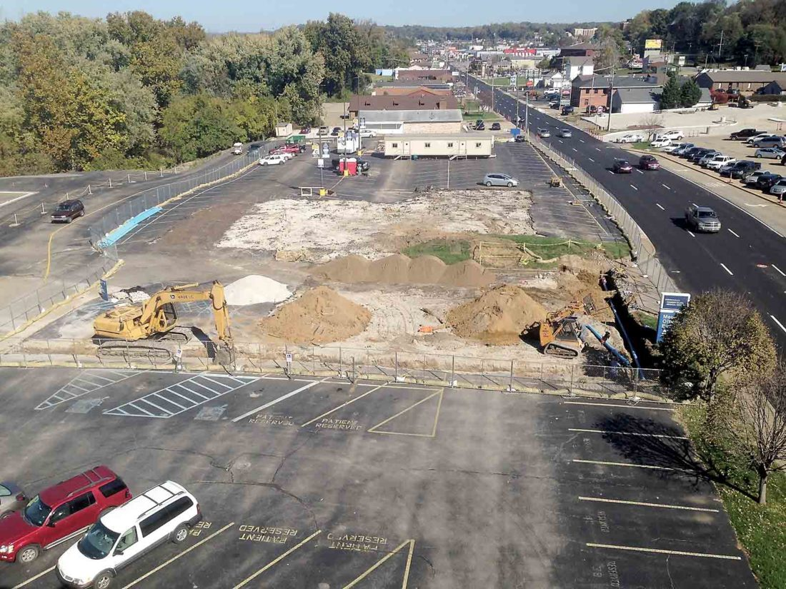 A view of where the new medical office building will be constructed along Garfield Avenue. (Photo Provided)