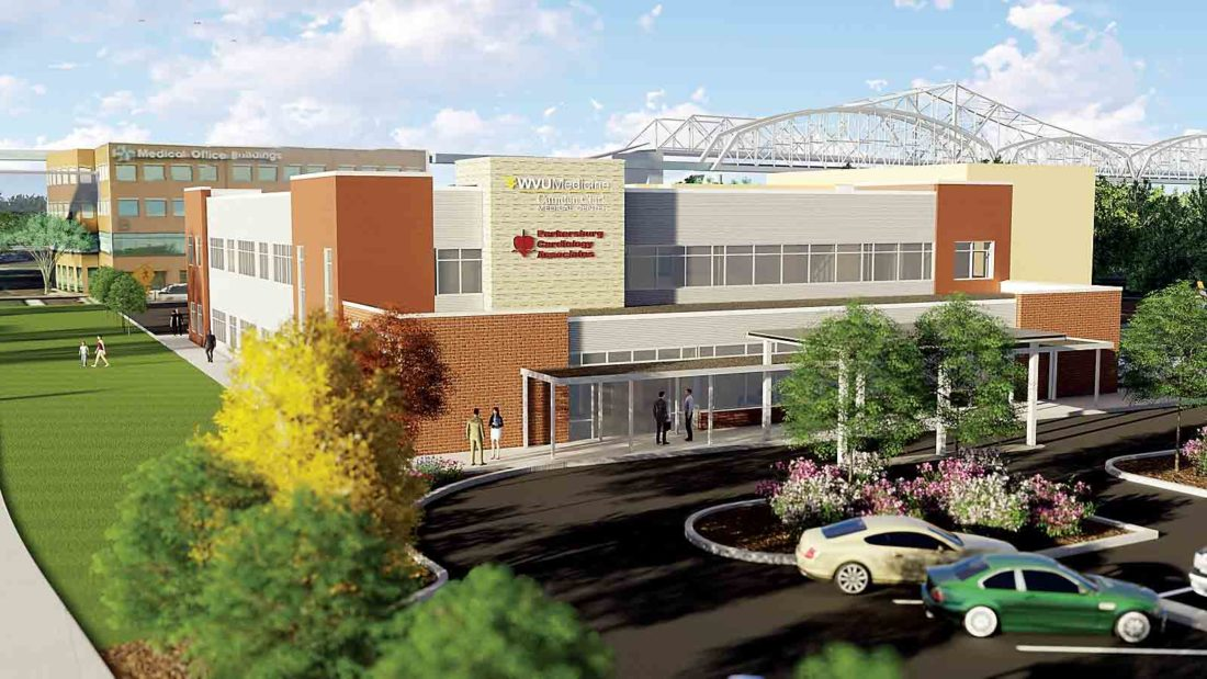 A rendering of the cardiology building to be built at WVU Medicine Camden Clark Medical Center along Garfield Avenue. (Photo Provided)