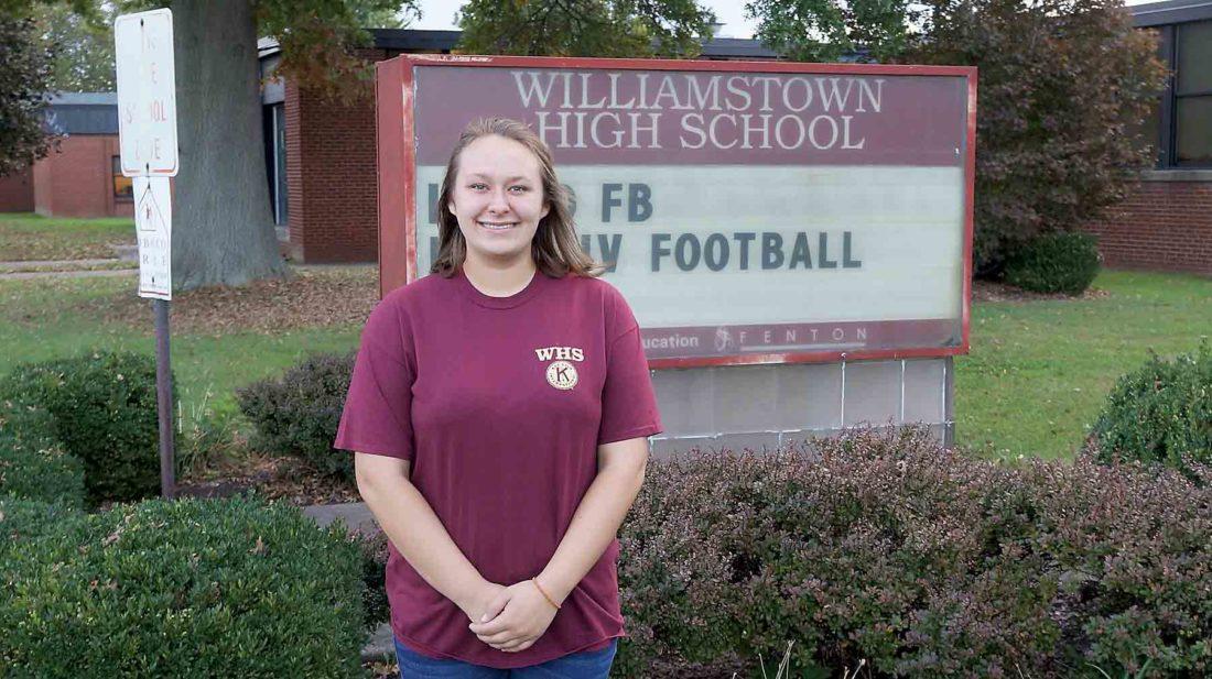 Williamstown High School senior Susan Fauber is this week's Teen of the Week. Fauber dreams of traveling.  (Photo by Michael Erb)