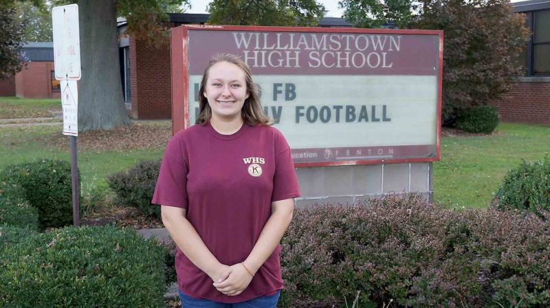 Williamstown High School senior Susan Fauber is this week's Teen of the Week. Fauber dreams of traveling.  (Photo by Michael Erb)