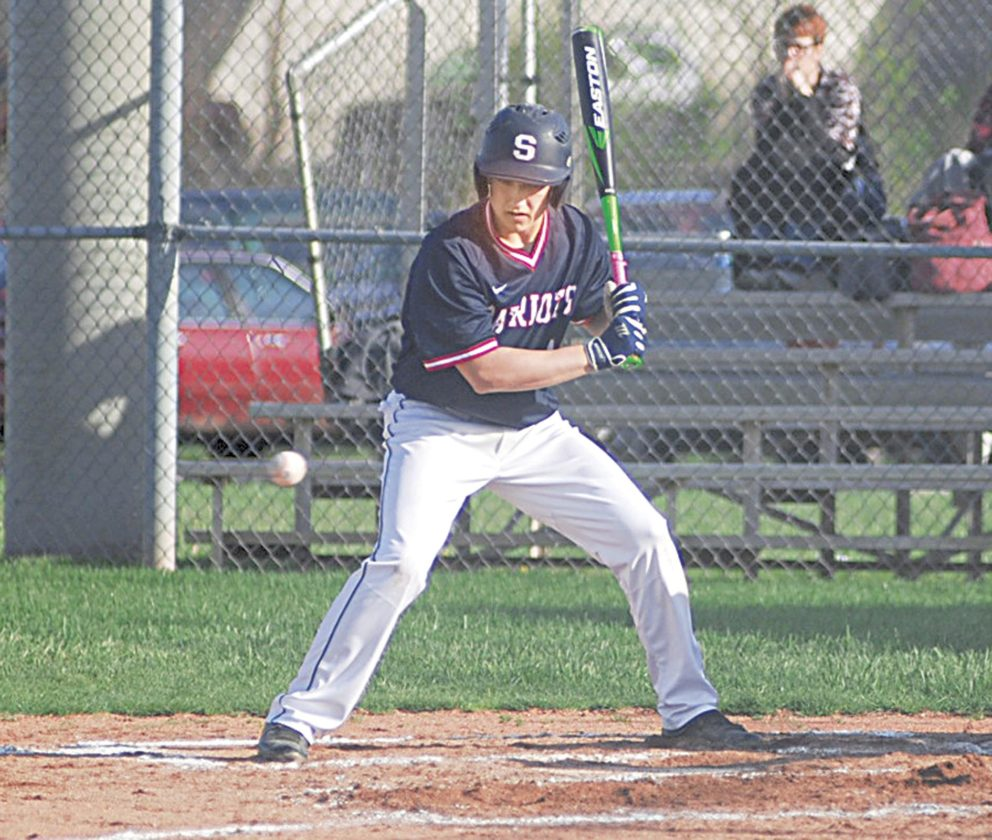 Photo by Jay W. Bennett Parkersburg South's Ben Menarchek, pictured here taking a pitch against Roane County earlier this year, will continue his baseball career at Ohio Valley University.