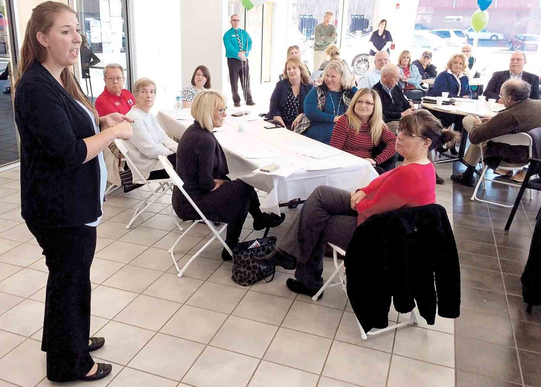 Julie Boyce, Parkersburg Area Community Foundationu0027s Development And  Communications Officer, Talks To Representatives Of 49 Non Profit  Organizations At ...