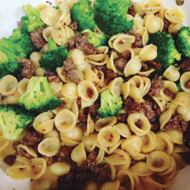 Photo by Amy Phelps Orecchiette with Sausage and Broccoli