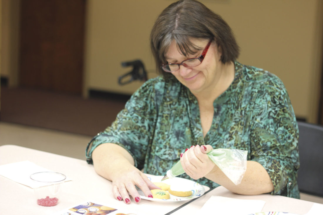 Photo by Janelle Patterson Rhonda Kaatz, 61, of Marietta, has lived with diabetes since she was 31, and says she can still enjoy sweets in moderation like the Christmas cookies at the O'Neill Center in Marietta.