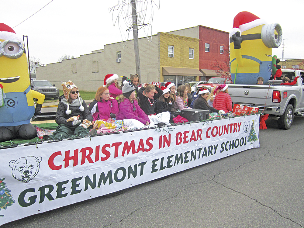 Photo by Wayne Towner Greenmont Elementary School had a float in the Holly Days Vienna Christmas Parade along Grand  Central Avenue in Vienna on Saturday morning.