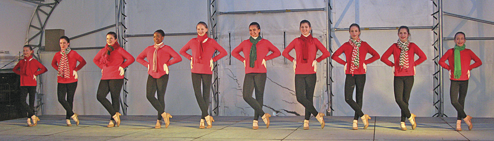 Photo by Jeffrey Saulton Members of the Schrader Youth Ballet Company's Schraderettes make their debut at the 2017 Winterfest in downtown Parkersburg.