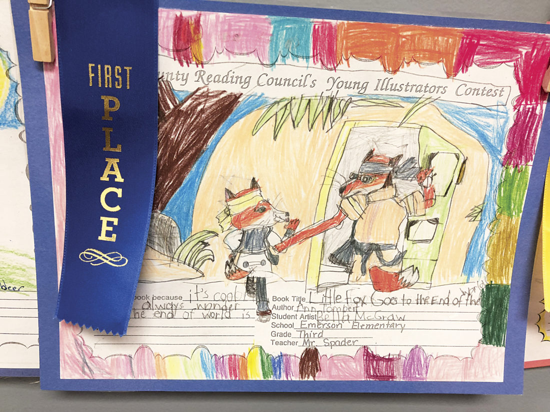 Photo Provided Wood County students submitted entries to the Young Illustrator Contest, creating an illustration of their favorite book. Winners from each grade level were announced Nov. 25.
