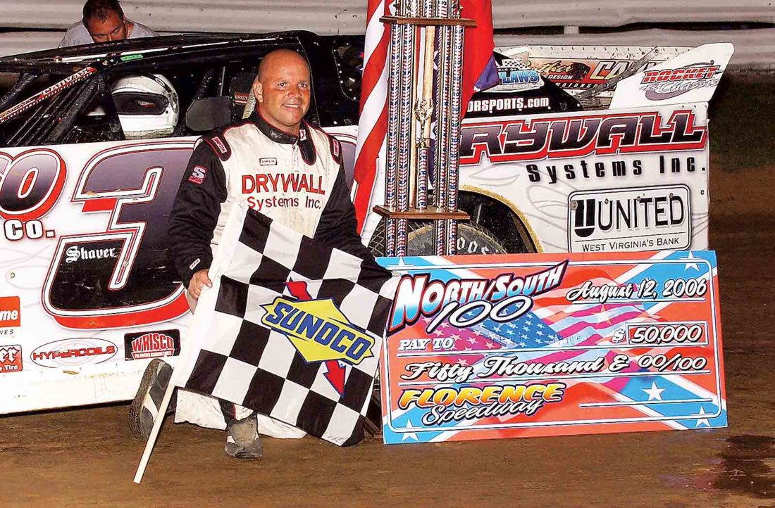 Steve Shaver of Parkersburg in August will be inducted into the National Dirt Late Model Hall of Fame. The retired driver is a real estate agent at Berkshire Hathaway. (Photo Provided)