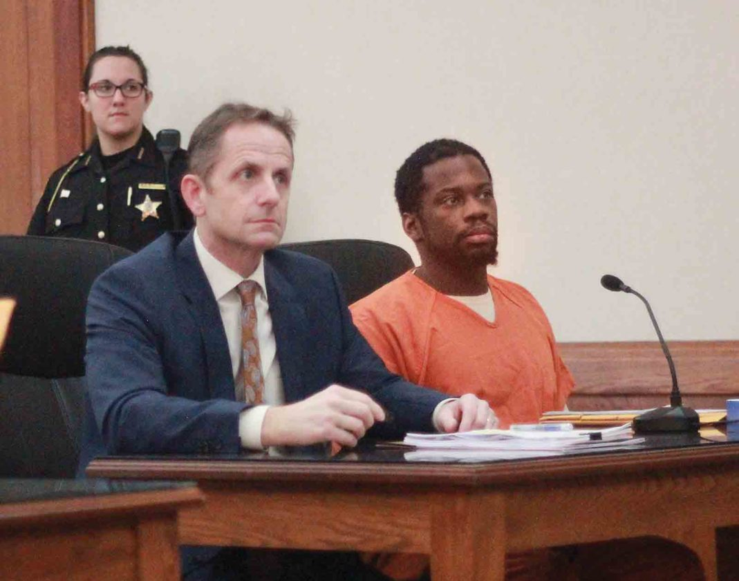 Photo by Janelle Patterson Anthony Mack, right, appears in Judge Mark Kerenyi's court Wednesday in Marietta for sentencing with his lawyer Rolf Baumgartel.